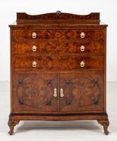 Burr Walnut Serpentine Chest / Cabinet (2 of 9)