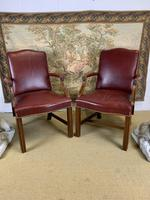 Pair of Victorian Mahogany Framed Armchairs (8 of 8)