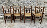 Set of 4 Antique Elm Country Chairs (9 of 13)