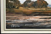 Edward Elliot (1850-1916) Superb Vintage Fishing Estuary Landscape Oil Painting (10 of 12)