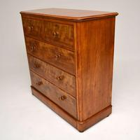 Large Antique Victorian Satinwood Chest of Drawers (16 of 16)