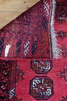 Handmade Bokhara wool rug vibrant red ground (6 of 11)
