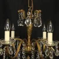 French Pair of 8 Light Antique Chandeliers (8 of 10)