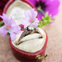 Vintage 18ct Gold & Platinum Diamond Solitaire Ring, Engagement