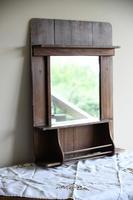 Single Rustic Pine Vanity Mirror (3 of 10)