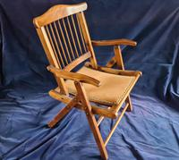 Antique 19th Century Elm Military Campaign Chair