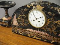 Art Deco Marble Clock Garniture (8 of 13)