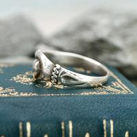 The Medieval Silver Hand on Heart Ancient Ring (3 of 6)