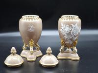 Attractive Pair of Late 19th Century Pâte-Sur-Pâte Vases (4 of 6)