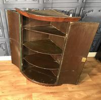 Good Georgian Oak Bow Front Corner Cupboard (6 of 8)