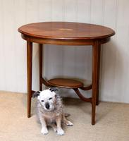 Oval Inlaid Occasional Mahogany Table (2 of 9)