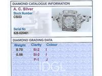 1.26 ct Diamond and Platinum Cluster Ring - Antique French Circa 1930 (4 of 9)