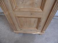 Lovely Antique Pine 1 Door Multi Functional Storage Cupboard to wax / paint (9 of 9)