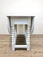 Painted Oak Gatleg Table on Turned Legs (4 of 7)