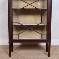 Glazed Bookcase Edwardian Astragal Display Cabinet Mahogany (9 of 11)