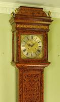 Fine Month Marquetry Longcase Grandfather Clock - Bird, London (4 of 16)