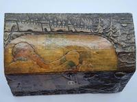 Antique Russian Wood Box with Basma Abramtsevo - Very Large (3 of 13)