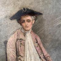 Antique Georgian oil painting portrait of gentleman The Flautist flute player (3 of 10)