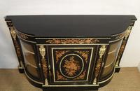 Victorian Ebonised & Marquetry Display Cabinet (3 of 7)