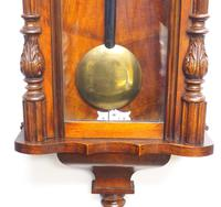 Fine Antique German Twin Walnut 8-Day Mantel Clock Vienna Striking Wall Clock (31 of 35)