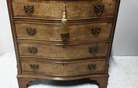 Burr Walnut Serpentine Shaped Chest of Drawers (2 of 9)