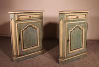 Pair of Louis XV Polychrome Corner Cupboards in Oak-19th Century (2 of 8)