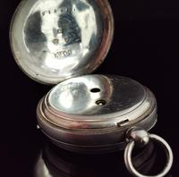 Victorian Silver Pocket Watch, Enamelled, Horse Racing (9 of 10)