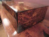 Superb Antique Burr Walnut London Jewel Box (4 of 8)