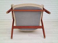 Danish 60s Design, Completely Reupholstered Armchair, Kvadrat Furniture Wool, Teak (11 of 11)
