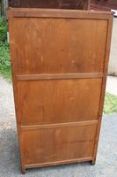 1960's 2 Door Oak Wardrobe with Linen Fold (4 of 4)