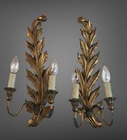 Pair of Vintage Florentine Giltwood Wall Lights (2 of 10)