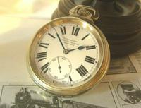 Antique Pocket Watch 1920s Winegartens 7 Jewel Railway Regulator Silver Nickel Case FWO (3 of 12)