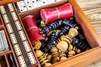 Solid Mahogany Games Box 1850 (14 of 15)