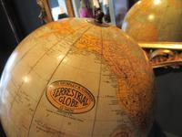 """1930's 12"""" Plaster Terrestrial Globe on Stand (6 of 8)"""