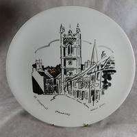 "Three Large  ""Views of Stamford"" Plates painted by Arthur Dilkes (4 of 8)"