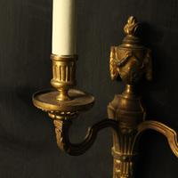 French Pair of Bronze Antique Wall Lights (7 of 10)