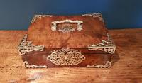Superb Antique Figured Walnut Jewellery Box (6 of 6)