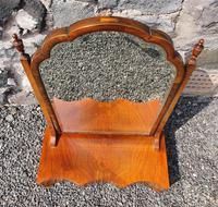 Queen Anne Style Walnut Dressing Mirror (4 of 7)