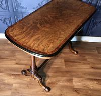 Victorian Burr Walnut & Amboyna Centre Table (5 of 14)