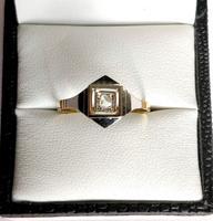 1920s Art Deco Diamond Ring 18ct White Yellow Gold (7 of 8)