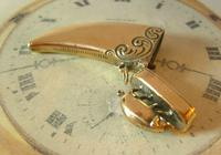 Antique Pocket Watch Chain Fob 1890s Victorian Large Brass Pig Vesta Case Fob (5 of 12)