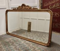 Superb Large French Gilt Overmantel Mirror