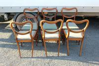 1850s Set 6 Victorian Mahogany Dining Chairs with Pale Green Upholstery (3 of 3)