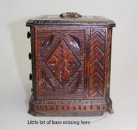 Black Forest Miniature Apprentice Piece Carved Chest 19th Century (9 of 11)