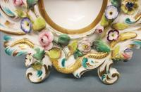 Coalport 'Coalbrookdale' Flower Encrusted Table Watch Stand c.1825-1830 (3 of 8)