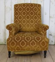 Antique Napoleon III High Back Armchair for re-upholstery (2 of 8)