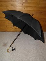 Antique Repousse Gold Plated Umbrella with Black Canopy by Kendall (2 of 16)