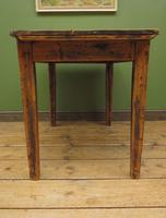 Small Antique Pine Scrub Top Kitchen Table, Top Stripped Ready for Use (13 of 16)