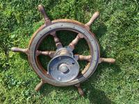Oak & Brass Ships Wheel (10 of 11)