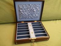 Inlaid Rosewood Jewellery Box, Plush Fitted Interior c.1845